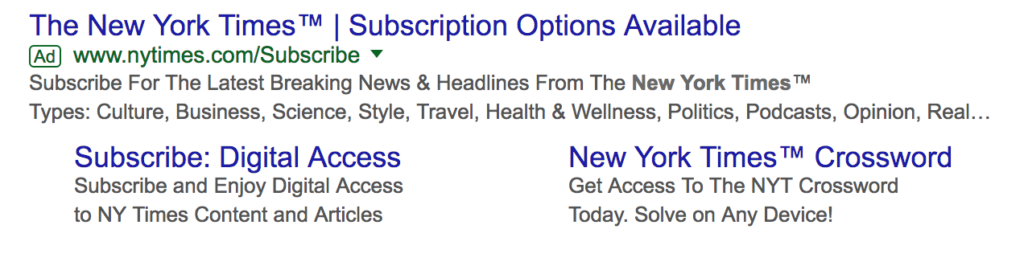 AdWords (Top / Bottom)