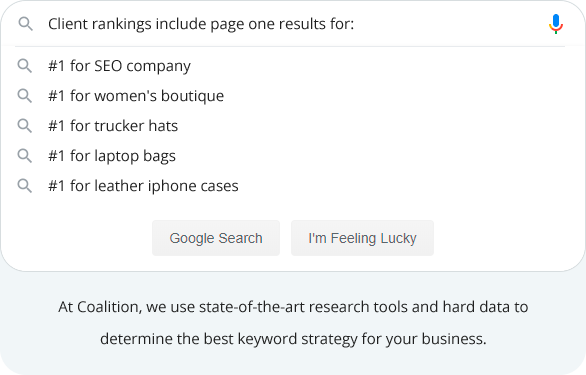 We Tackle the Most Competitive Keywords