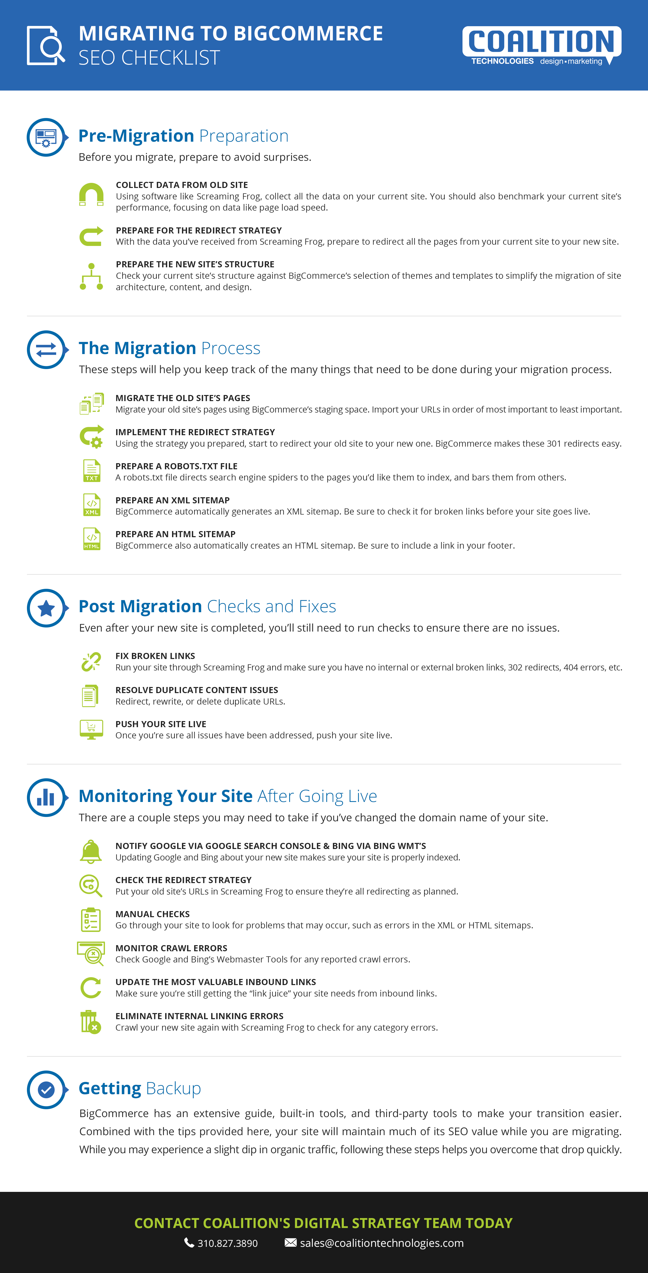 Migrating to BigCommerce SEO Checklist