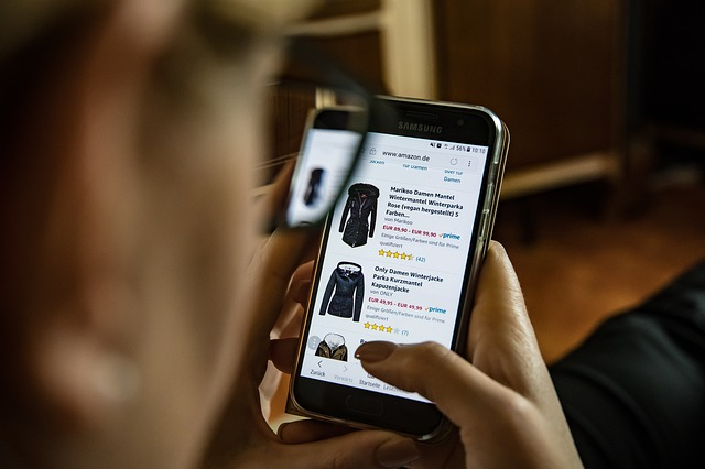 shopping on a mobile phone