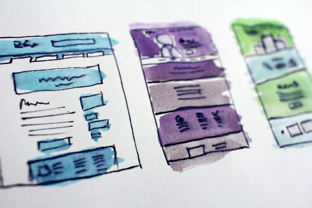 hand drawn website design